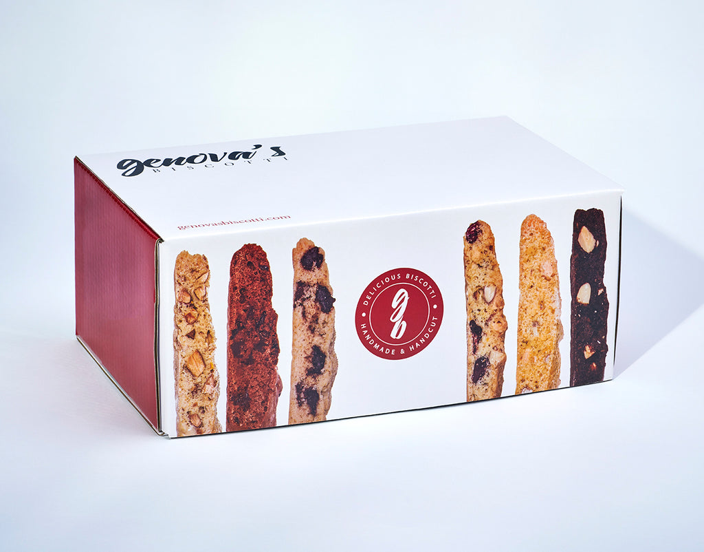 Double Chocolate Almond Biscotti - Genova's Biscotti. World's Greatest Handmade Biscotti.
