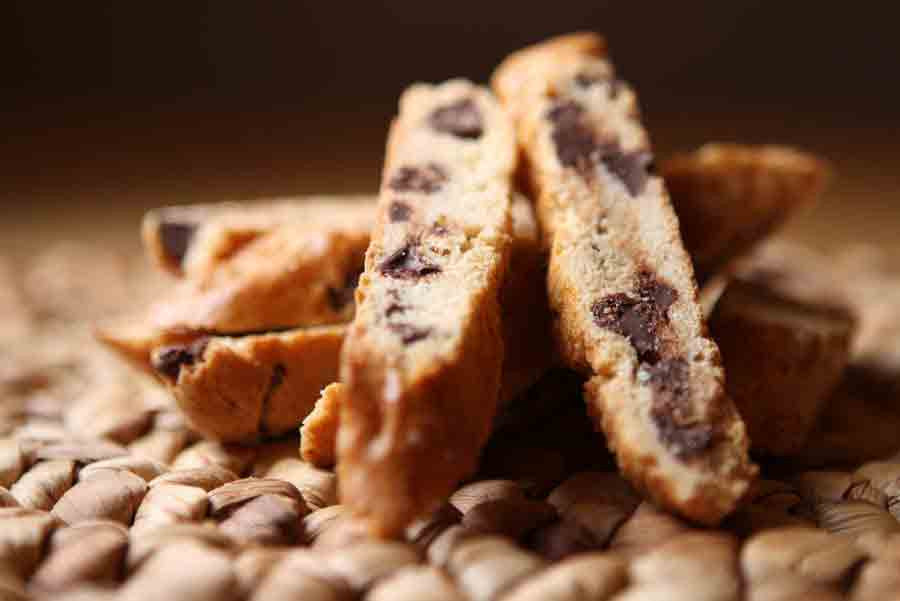 Chocolate Chip Biscotti - Genova's Biscotti. World's Greatest Handmade Biscotti.