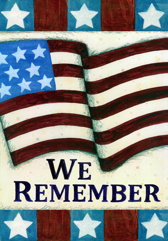 """We Remember"" Memorial Day Garden Flag"