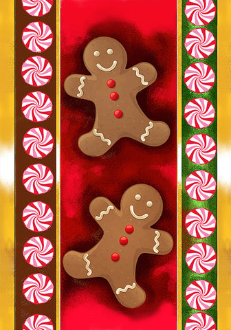 Gingerbread Man Garden Flag