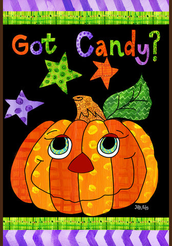 Got Candy? Pumpkin Garden Flag