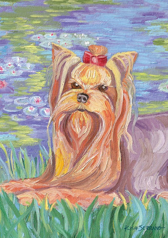 Garden Flag-Bonet-Yorkie Dog Flag