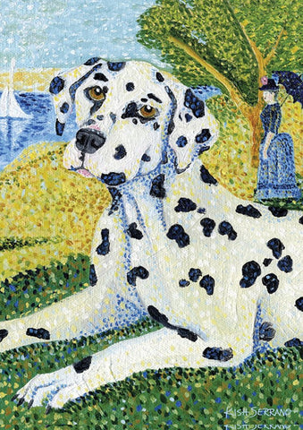 Garden Flag-Grrraut Dalmation Dog Flag