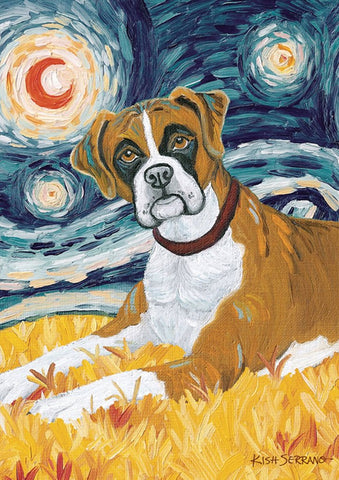 Garden Flag-Van Growl-Boxer Dog Flag