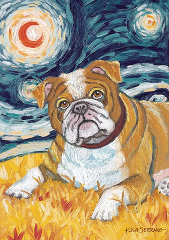 Garden Flag-Van Growl Bulldog Dog Flag