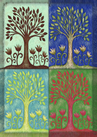 Garden Flag-Seasons Tree Flag