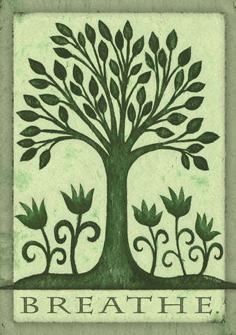 Garden Flag-Breathe Tree Life Flag