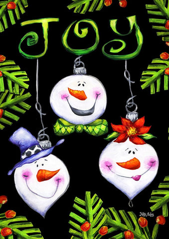 Garden Flag-Snowmen Ornaments Garden Flag