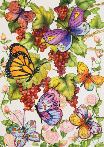 Garden Flag-Butterflies in vineyard