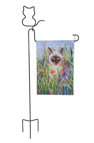 Cat Garden Flag Stands Made in USA Ohio Outdoor Creations