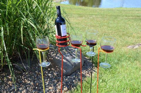 Outdoor Wine Glass Holders - 4 Pack