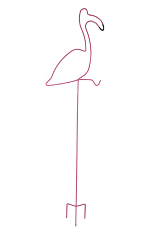 Pink Flamingo Yard Stake
