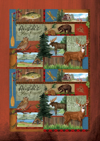 Garden Flag-Rustic Retreat Animals