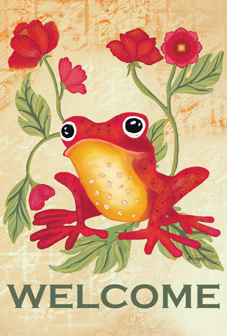 Garden Flag-Welcome Tree Frog