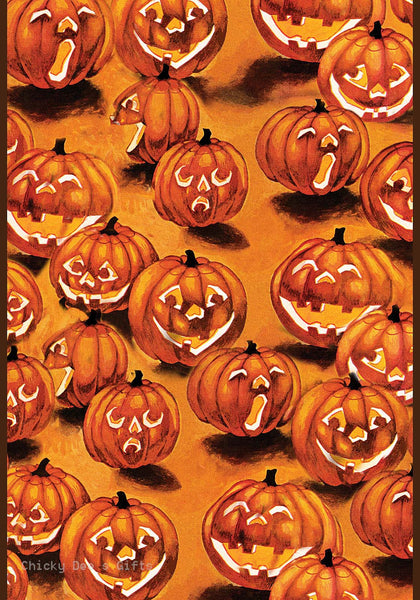 Toland Garden Flag Jack-O-Lanterns In The Dark  Halloween - Chicky Dee's Gifts