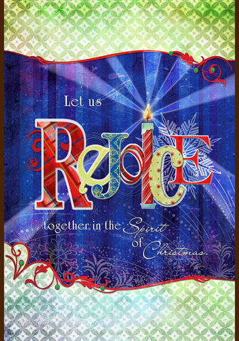 Toland Garden Flag Rejoice Together  Christmas - Chicky Dee's Gifts