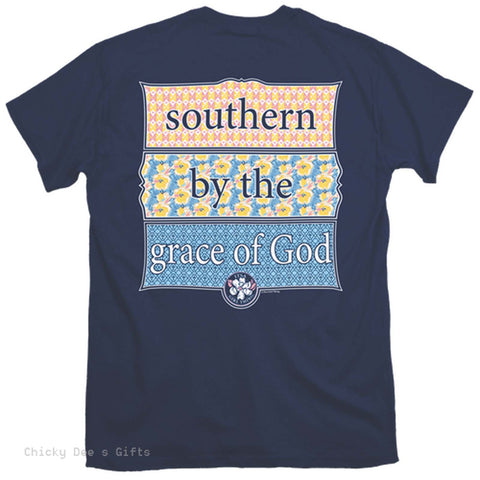 Itsa Girl Thing Short Sleeve Tee  Southern by the Grace of God T-Shirt T Shirt - Chicky Dee's Gifts