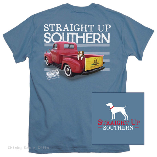 Straight Up Southern Short Sleeve Tee The Gadsden Don't Tread On Me - Chicky Dee's Gifts