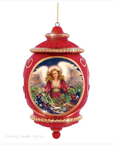 Precious Moments His Love Is Never Ending Angel Porcelain Christmas Ornament - Chicky Dee's Gifts