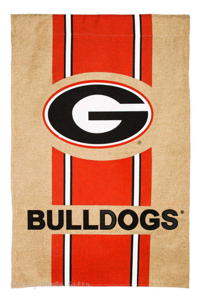 Evergreen Burlap Garden Flag Georgia Bulldogs UGA 14B914 - Chicky Dee's Gifts