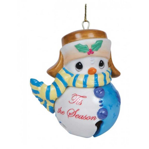 Precious Moments Snowman Tis the Season Jingle Bell Christmas Ornament - Chicky Dee's Gifts