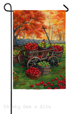 Evergreen Apple Harvest Garden Flag 14a3478 Autumn - Chicky Dee's Gifts
