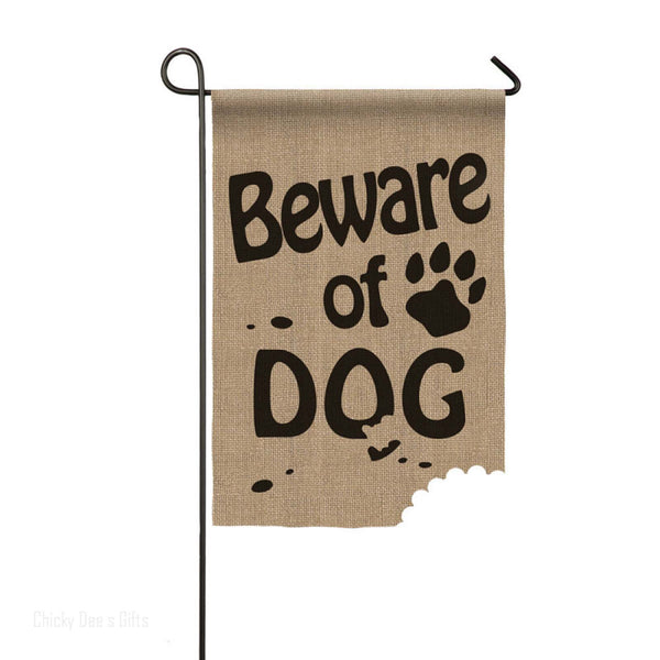 Evergreen Burlap Garden Flag BEWARE OF DOG 14B3326