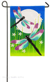 Evergreen Burlap Garden Flag Dragonfly Dance 14b4035bl
