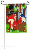 Evergreen Burlap Garden Flag Woodland Friends 14b4038bl