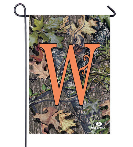 Evergreen Mossy Oak Camo Monogram W Garden Flag 14S3045W Autumn - Chicky Dee's Gifts