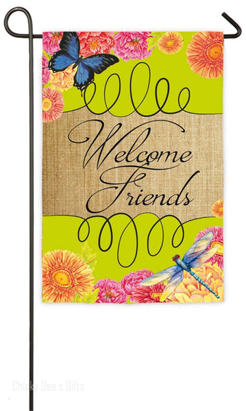 Evergreen Garden Flag Welcome Friends Spring 14S3591 - Chicky Dee's Gifts