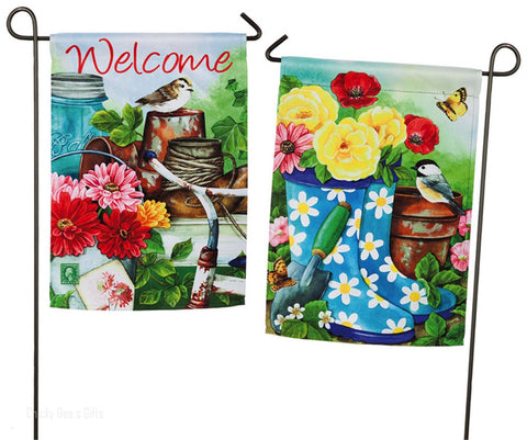 Evergreen Garden Flag Old Garden Shed Spring 14S3644FB - Chicky Dee's Gifts