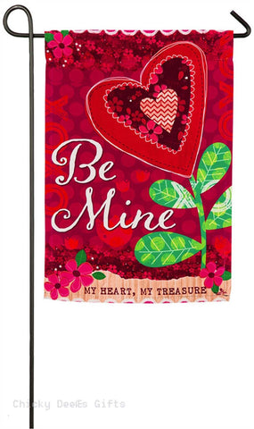 Evergreen Garden flag Be Mine Valentine 14s4093