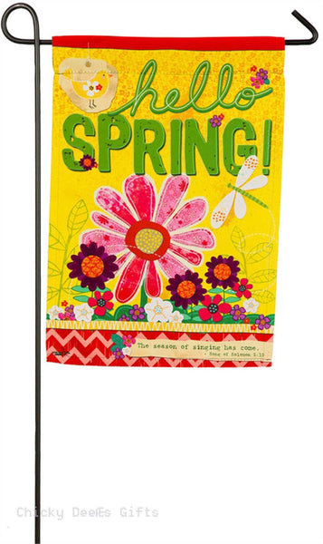 Evergreen Garden flag Hello Spring 14s4095