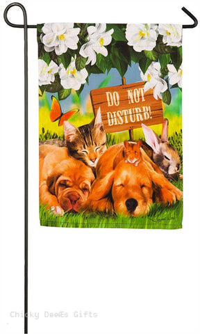Evergreen Garden flag Sleepyheads Puppy Kitten Dog Cat 14s4101