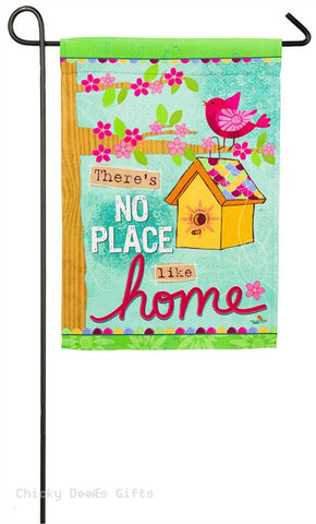Evergreen Garden flag No Place Like Home birdhouse 14s4156