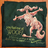 McCartney You Had Me at Woof Irish Setter Short Sleeve Tee on Deep Forest Green