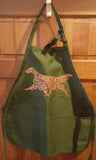 Grooming Apron with Irish Setter 2019 art by Telia Fleming Hanks Deep Forest Green