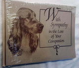 Irish Setter Sympathy Card artwork by Telia Fleming Hanks