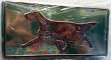 Irish Setter License Plate Tag artwork by Telia Fleming Hanks