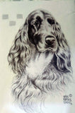 Irish Setter Notepad artwork by Telia Fleming Hanks
