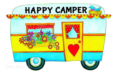 Custom Décor Door Hanging Hang Around Happy Camper RV 2146 - Chicky Dee's Gifts