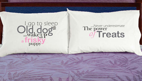 DogSnorZ Pillow Cases Sleep with an Old Dog Novelty Pillowcase - Chicky Dee's Gifts