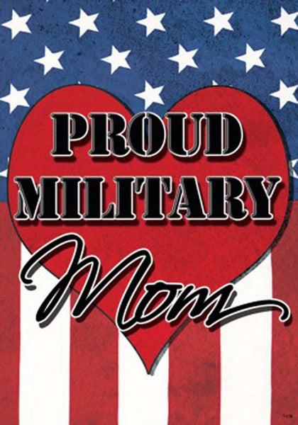 Custom Decor Standard House Flag Military Mom Patriotic Mother's Day 2261FL - Chicky Dee's Gifts
