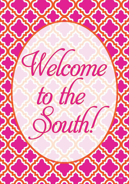 Custom Decor Garden Flag Welcome to the South Southern 2409FM - Chicky Dee's Gifts