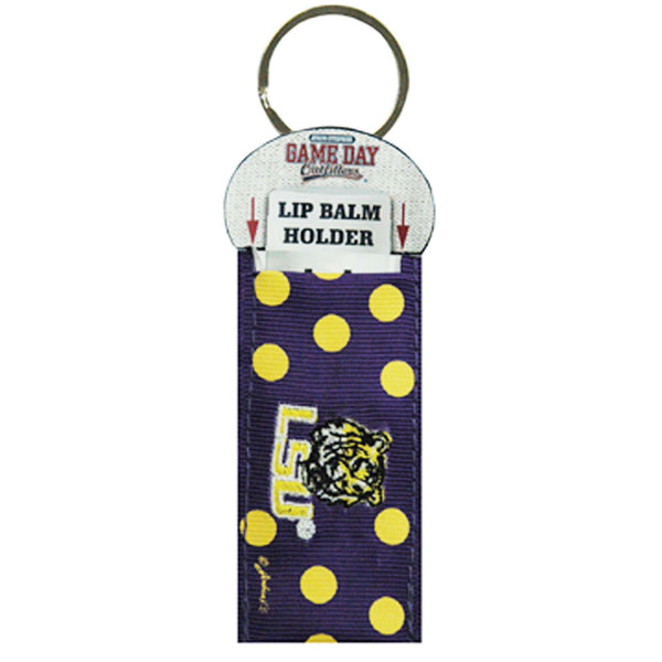 Louisiana State University LSU Tigers  Key chain Lip Balm Holder NCAA - Chicky Dee's Gifts