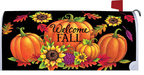 Mailbox Makeover Cover Custom Décor Pumpkin Sunflowers Autumn - Chicky Dee's Gifts