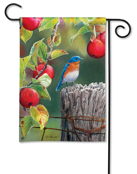 BreezeArt Garden Flag  Apple Orchard Bluebird bird 31009 - Chicky Dee's Gifts