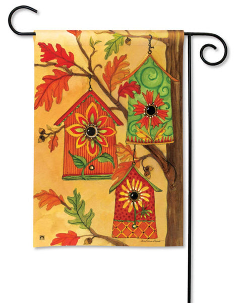 BreezeArt Garden Flag Fall Birdhouses Autumn Bird 31024 - Chicky Dee's Gifts