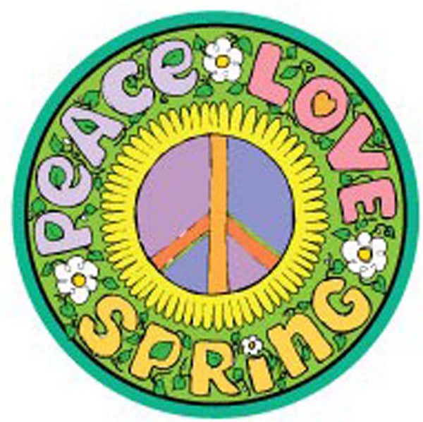 Mad Mags Magnetic PEACE LOVE SPRING SIGN Vinyl Car Magnet Fridge Locker Decal